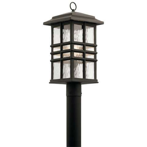 Beacon Square Outdoor Post Mt. 1 Light in Olde Bronze