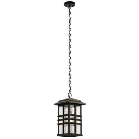 Beacon Square Outdoor Pendant 1 Light in Olde Bronze