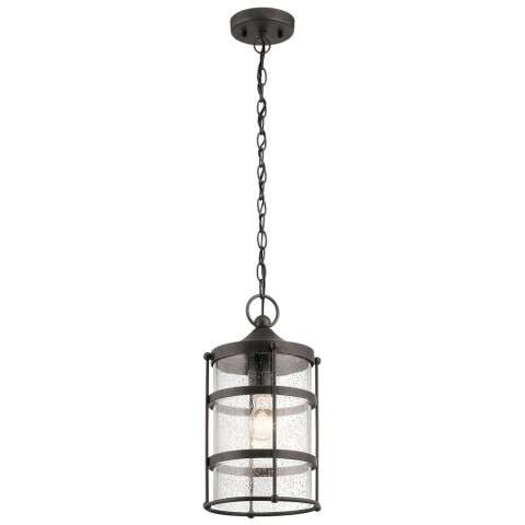 Mill Lane Transitional Outdoor Pendant 1Lt In Anvil Iron
