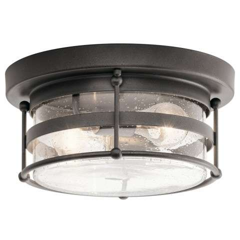 Mill Lane Transitional Outdoor Ceiling 2Lt In Anvil Iron