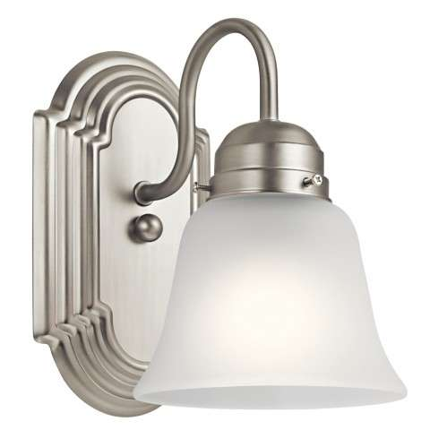 Traditional Wall Sconce 1Lt In Brushed Nickel