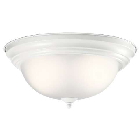 Transitional Flush Mount 2Lt In White