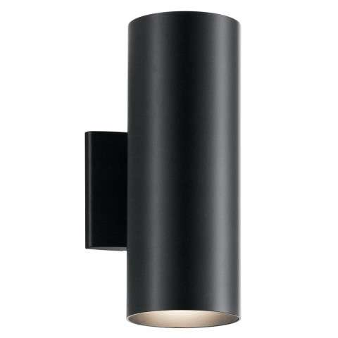 Contemporary Indoor/Outdoor Wall 2Lt In Black