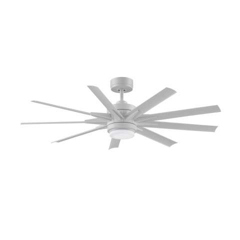 Fanimation Odyn Model MAD8152MWW in Matte White shown with BPW8152-64-MWW 56 Inch Matte White All Weather Composite Blades.