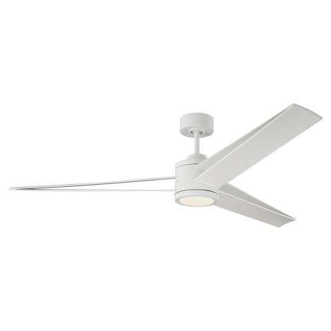 Monte Carlo Armstrong 60 Inch LED Ceiling Fan Model 3AMR60RZWD in Matte White