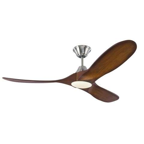 Monte Carlo Maverick 52 Inch LED Ceiling Fan Model 3MAVR52BSKOAD in Brushed Steel