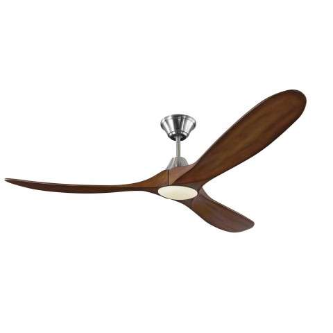 Monte Carlo Maverick 60 Inch LED Ceiling Fan Model 3MAVR60BSKOAD in Brushed Steel