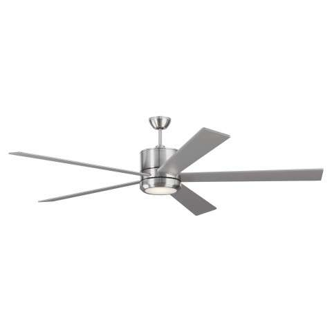 Monte Carlo 5VMR72BSD 72 Inch Vision LED DC Ceiling Fan in Brushed Steel