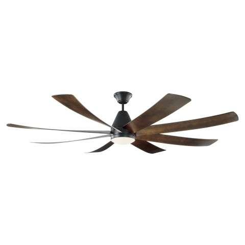 Monte Carlo 72 Inch Kingston LED DC Ceiling Fan Model 8KGR72BKD In Matte Black