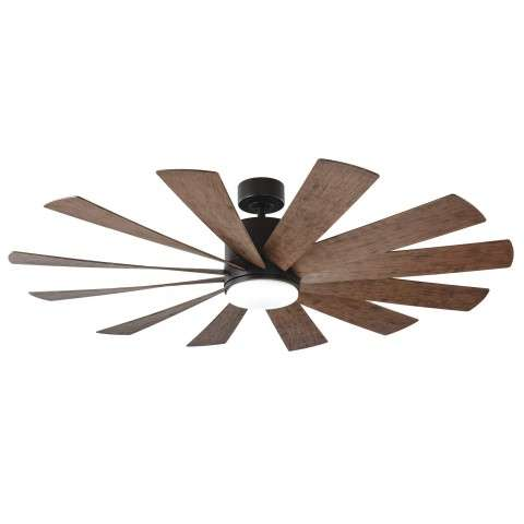 FR-W1815-60L-MB-DK Modern Forms Windflower 60 Inch DC Smart Ceiling Fan
