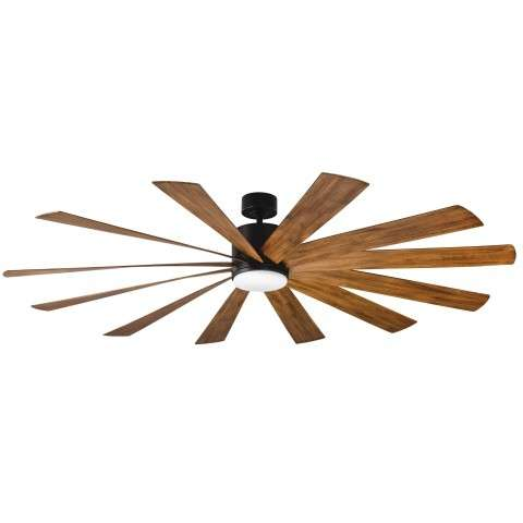 FR-W1815-80L-MB-DK Modern Forms Windflower 80 Inch DC Smart Ceiling Fan