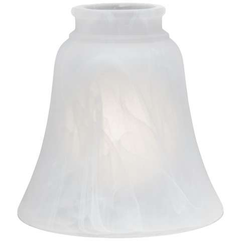 Glass Shade - Etched Marble