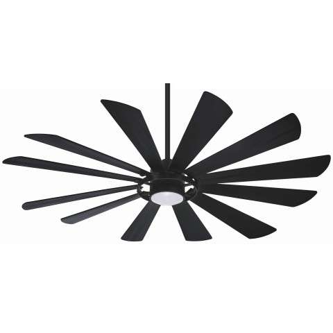Minka Aire F870L-TCL 65 Inch Windmolen Ceiling Fan in Textured Coal