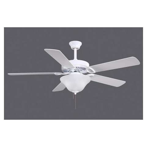 The America USA Ceiling Fan with Lights - White Blades