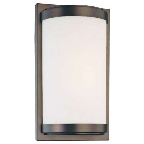 Minka Lavery 6448-267-PL Minka Lavery 1 Light Wall Sconce In Dark Brushed Bronze Finish W/Etched White Glass