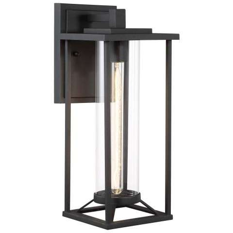 Trescott 1 Light Outdoor Wall Mount In Black