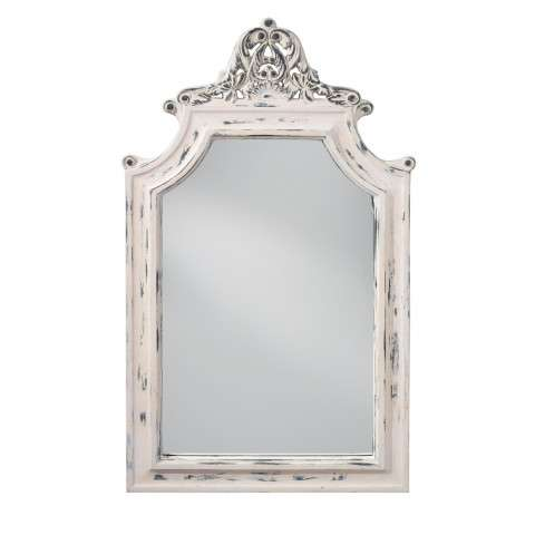 Hand Painted White Mirror