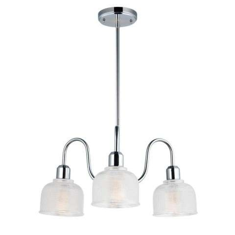 Hollow 3-Light Chandelier in Polished Chrome