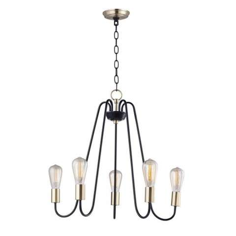 Haven 5-Light Chandelier in Oil Rubbed Bronze / Antique Brass