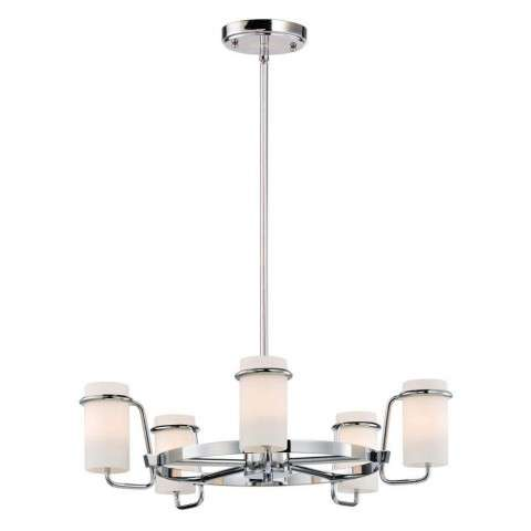 Avant 5-Light Chandelier in Polished Chrome