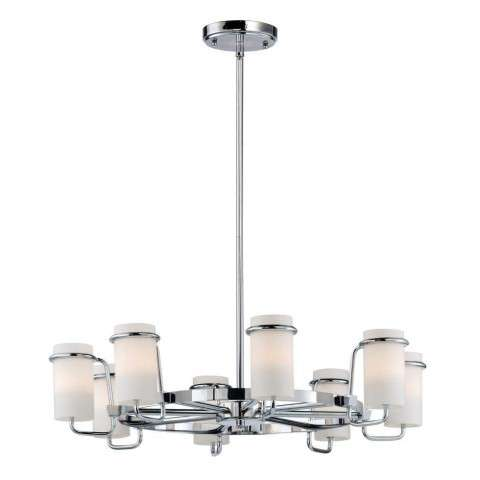 Avant 8-Light Chandelier in Polished Chrome