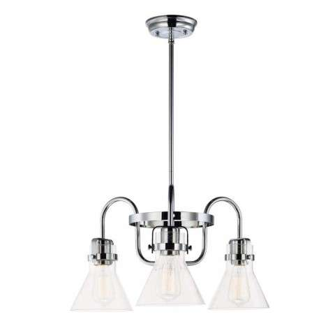 Seafarer 3-Light Chandelier in Polished Chrome