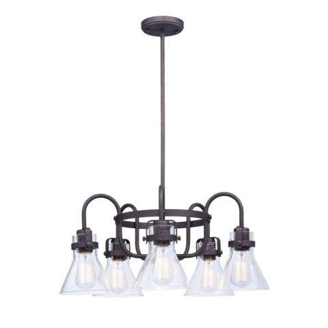 Seafarer 5-Light Chandelier With Bulbs in Oil Rubbed Bronze