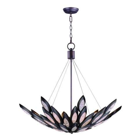 Lotus 12-Light Pendant in Burnished Bronze