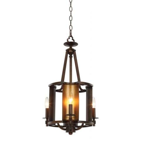 Candella 4-Light Chandelier in Chestnut Bronze / Gold