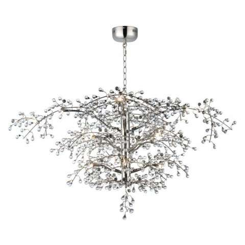 Cluster 12-Light Chandelier in Polished Nickel