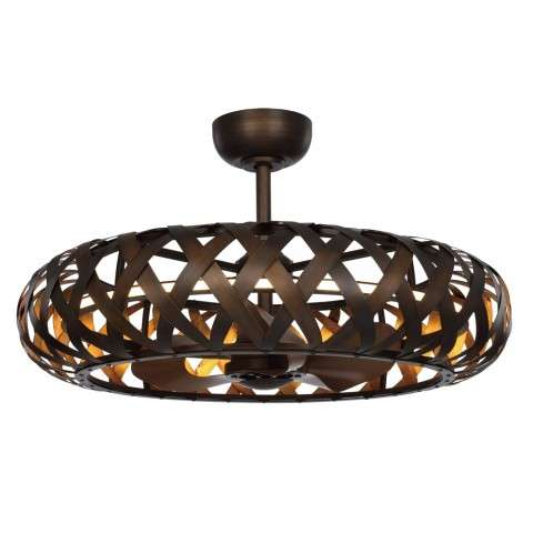 Maxim 60010BZGTGLD Weave LED Fandelier in Bronze Gilt with Gold