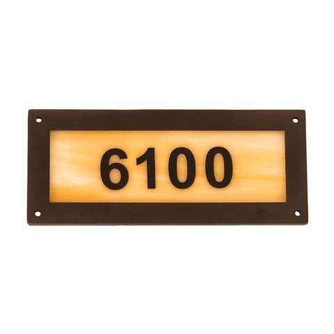 "9.5"" Wide Personalized Number Plate"