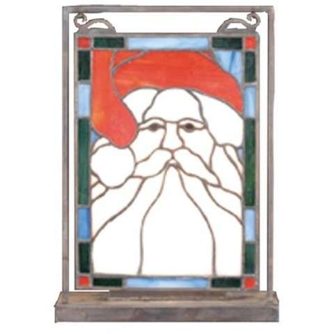 "9.5""W X 10.5""H Santa Head Lighted Mini Tabletop Window"