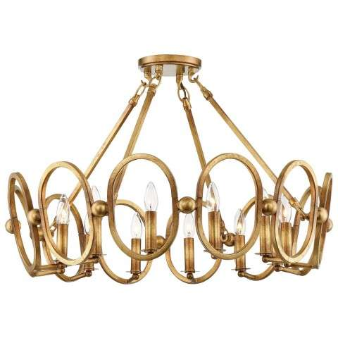 Clairpointe 12 Light Semi Flush