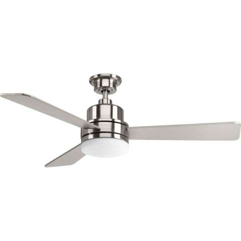 Trevina Collection LED 52 3-Blade Fan In Brushed Nickel