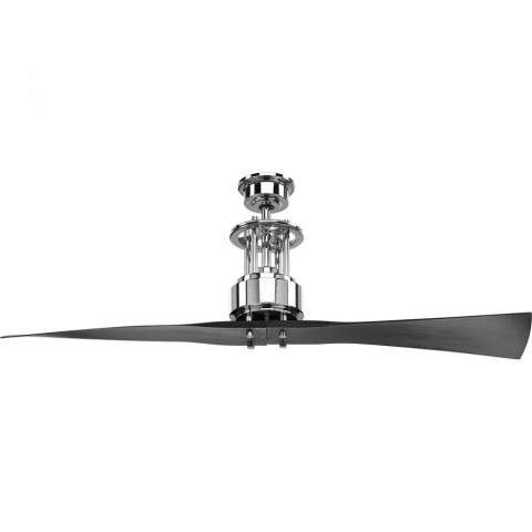 Spades 52 Ceiling Fan In Polished Chrome