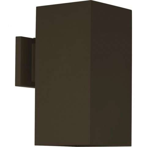 LED Square Outdoor Wall Mount Fixture In Antique Bronze