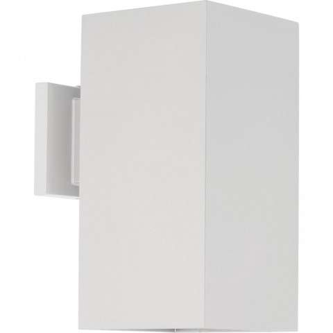 LED Square Outdoor Wall Mount Fixture In White