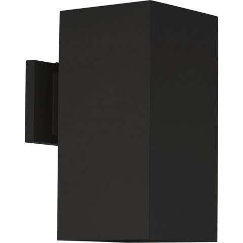 LED Square Outdoor Wall Mount Fixture In Black