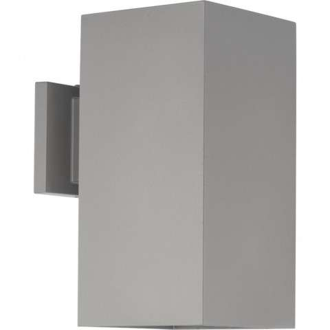 LED Square Outdoor Wall Mount Fixture In Metallic Gray