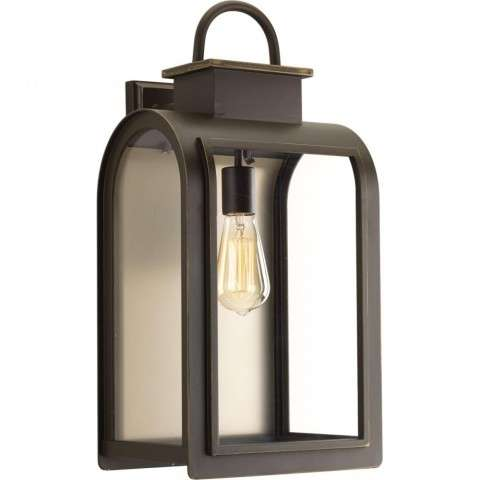 Refuge Collection One-Light Large Wall Lantern In Oil Rubbed Bronze