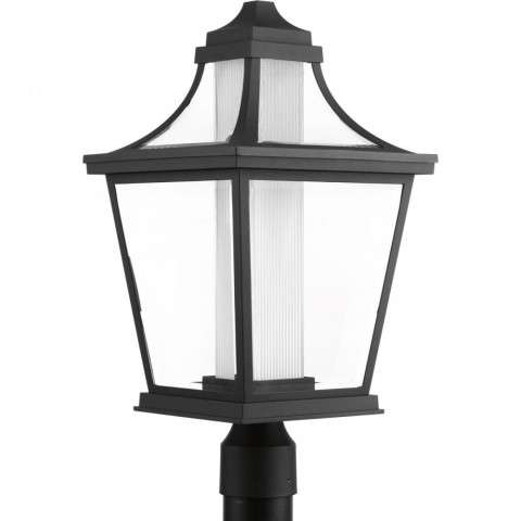 Endorse Collection One-light LED post lantern In Black