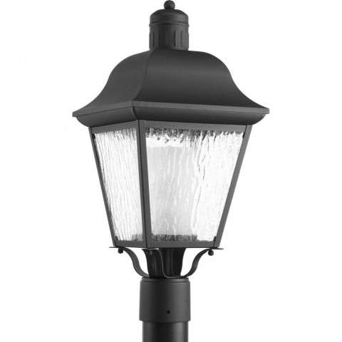 Andover Collection CFL One-Light Post Lantern In Black