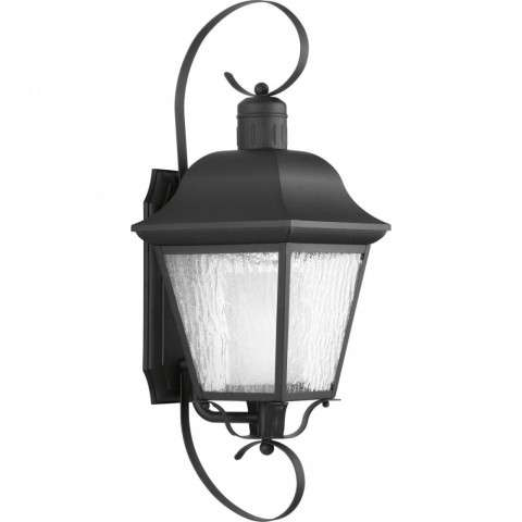 Andover Collection CFL One-Light Large Wall Lantern In Black