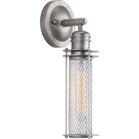 Industrial Collection One-light wall sconce In Galvanized Finish