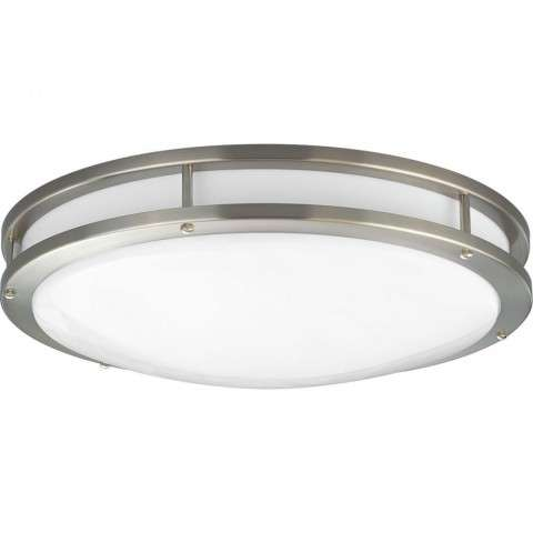 One-Light surface mount with clean modern lines In Brushed Nickel