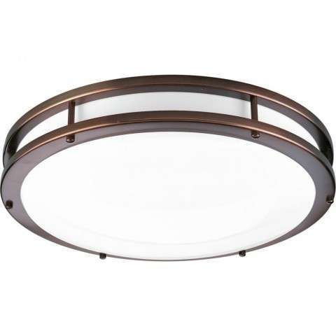 One-Light surface mount with clean modern lines In Urban Bronze