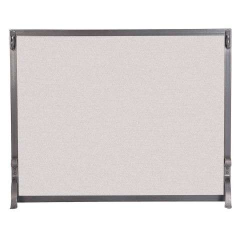 "Single Panel Fireplace Screen - 39"" Wide x 31"" Tall"