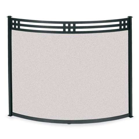 "Bowed Fireplace Screen - 39"" Wide x 31"" Tall"