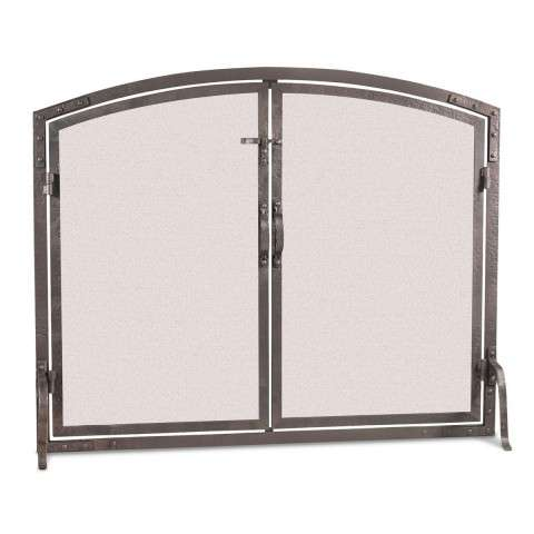 Pilgrim Arched Operable Door Screen - Forged Iron